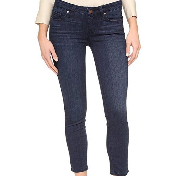 PAIGE Denim - Paige Verdugo Dark Wash Crop Skinny Jeans
